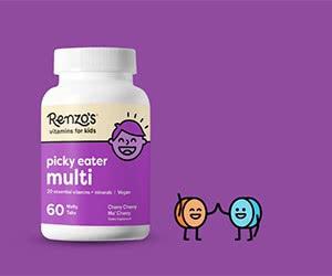 Free Renzo's Kids Vitamins Starter Pack