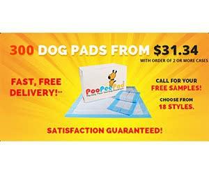 Free PooPeePads Dog Pad Samples
