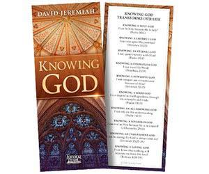 Free David Jeremiah Knowing God Bookmark
