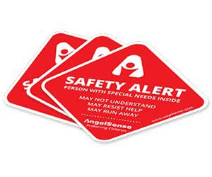 "Free Car Sticker ""Safety Alert: Person With Special Needs Inside"""