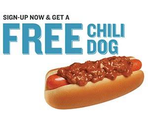 Free Wienerschnitzel Chili Dog