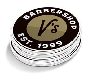 Free V's Barbershop Sticker