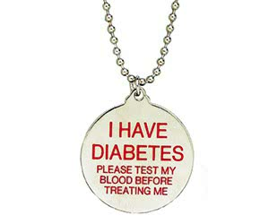Free Diabetes ID Necklace