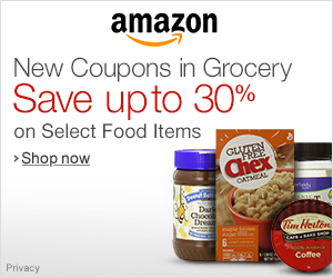 Shop Amazon - New Coupons in Grocery - Save Up to 30% on Select Food Items