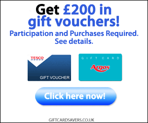 Free £200 In Argos Or Tesco Gift Vouchers