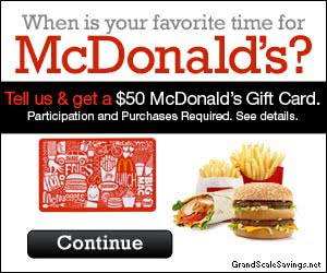 Free $50 McDonald's Gift Card