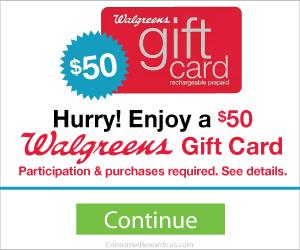 Free $50 Walgreens Gift Card