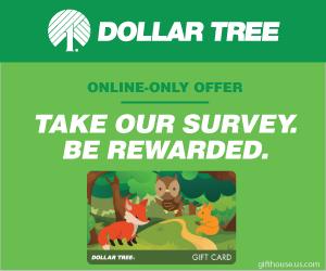 Free $100 Dollar Tree Gift Card