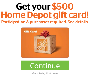 Free $500 Home Depot Gift Card