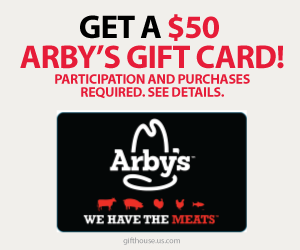 Free $50 Arby's Gift Card