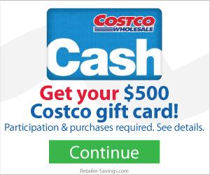 Free $500 Costco Gift Card
