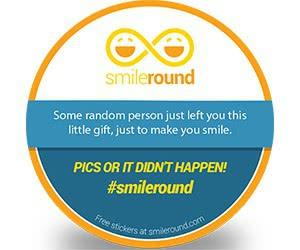 "Free IZEA ""Smileround"" Sticker"