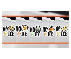 Free Sticker: No Tacos/ Pupusas/ Pho/ Arepas/ Jollof Rice For Ice