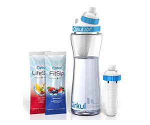 Free Cirkul Water Bottle, Lid And Flavor Cartridges