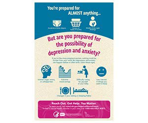 """Free """"Moms' Mental Health Matters: Prepared for Anything"""" Wall Poster"""