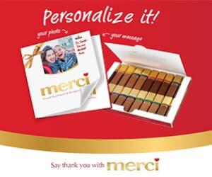 Free Merci Artisan European Chocolates Personalized Box