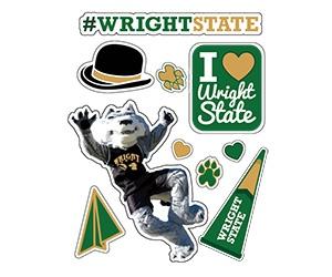 Free Wright State Sticker Sheet