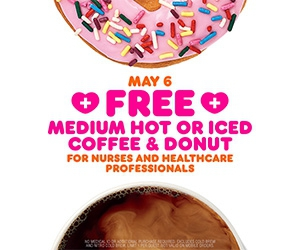 Free Coffee and Donut on National Nurses Day