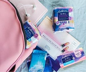 Free Libra Girls Pads And Tampons Sample Kit