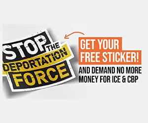 """Free """"Stop The Deportation Force"""" Sticker"""