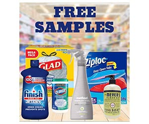 Free Ziploc, Glad, Clorox, Finish And More Cleaning Product Samples