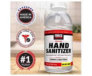 Free Force Factor Hand Sanitizer Sample