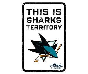 "Free ""Sharks Territory"" Mini Sign"