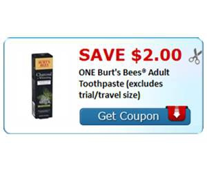 Save $2.00 ONE Burt's Bees® Adult Toothpaste (excludes trial/travel size)