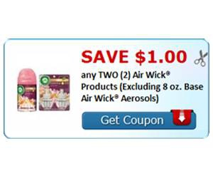 Save $1.00 any TWO (2) Air Wick® Products