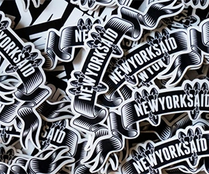 Free New York Said Stickers