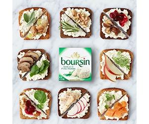 Free Boursin Garlic & Fine Herbs + Shallot & Chive Cheese