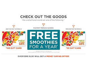 Win Smoothies For A Year From Tropical Smoothie Cafe
