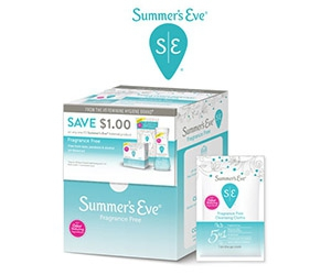 Free Summer's Eve Feminine Cleansing Wipes Samples