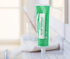 Free Dr. Bronner's Spearmint All-One Toothpaste