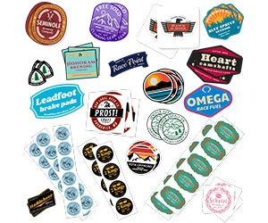 Free Sticker Samples from Comgraphx