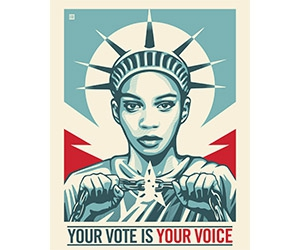 """Free """"Your Vote Is Your Voice"""" Sticker"""