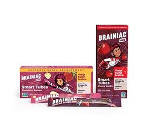 Free multipack of Brainiac Kids Yogurt Tubes