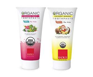 Free Kids Organic Toothpaste From Radius