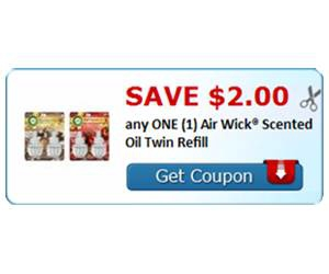Save $2.00 any ONE (1) Air Wick® Scented Oil Twin Refill