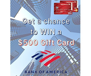 Free $500 Bank Of America Gift Card