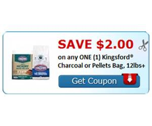 Save $2.00 on any ONE (1) Kingsford® Charcoal or Pellets Bag, 12lbs+