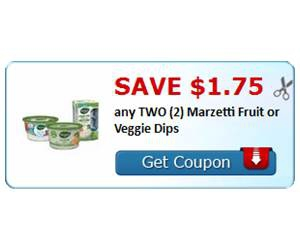 Save $1.75 any TWO (2) Marzetti Fruit or Veggie Dips