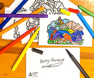 Free Mas Unidos x3 Coloring Postcards