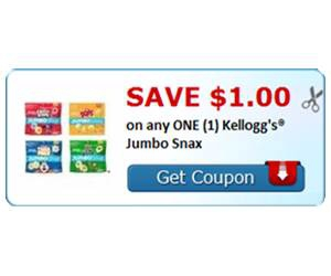 Save $1.00 on any ONE (1) Kellogg's® Jumbo Snax