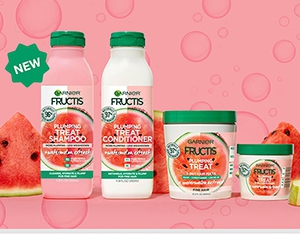 Win Garnier Fructis Plumping Treat + Watermelon Extract Shampoo And Conditioner
