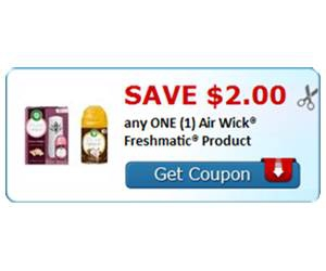 Save $2.00 any ONE (1) Air Wick® Freshmatic® Product