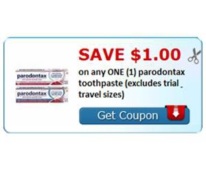 Save $1.00 on any ONE (1) parodontax toothpaste