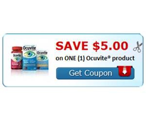 Save $5.00 on ONE (1) Ocuvite® product