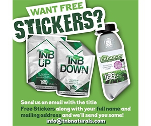 Free Stickers From TNB Naturals