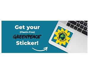 Free Greenpeace Sticker